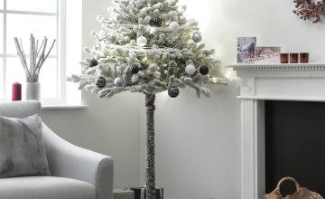 Argos Home 6ft Snowy Half Christmas Tree - Green