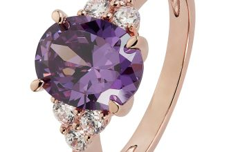 Revere 9ct Rose Gold Plated Oval Cut Cubic Zirconia Ring