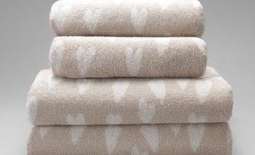 Argos Home Hearts 4 Piece Towel Bale