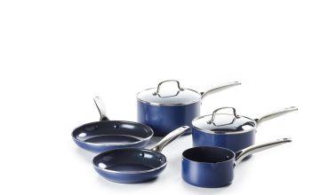 Blue Diamond 5 Piece Non Stick Ceramic Pan Set