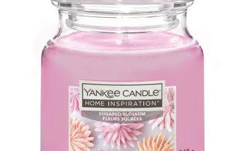 Home Inspiration Medium Jar Candle - Sugared Blossom