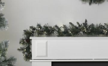 Argos Home 182cm Pre-Lit Snow Tipped Christmas Garland