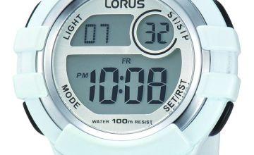 Lorus Ladies White Resin Strap Watch