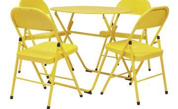 Argos Home Bright 4 Seater Bistro Set - Yellow