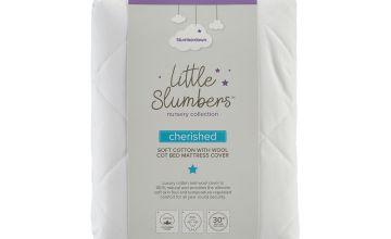 Slumberdown Cherished Cotton & Wool Cot Bed Mattress Cover