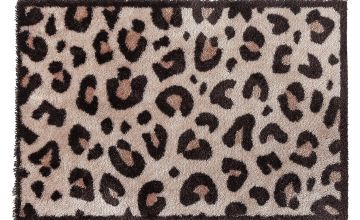 Primeur Leopard Lux Washable Doormat