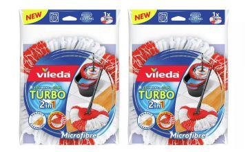 Vileda 2 in 1 Microfibre Turbo Mop Head Pack