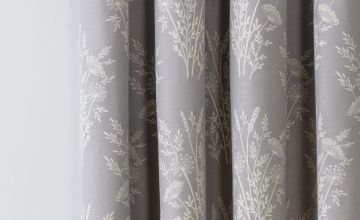 Argos Home Floral Jacquard Lined Eyelet Curtains