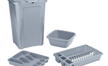 Argos Home 4 Piece Kitchen Bin Set - Grey
