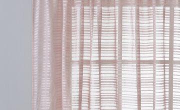 Argos Home Textured Voile Curtain Panel - Blush