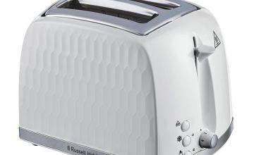 Russell Hobbs 26060 Honeycomb 2 Slice Toaster - White