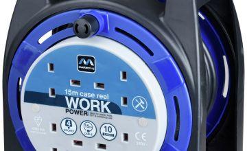 Masterplug 4 Socket Cable Reel - 15m