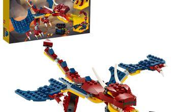 LEGO Creator 3-in-1 Fire Dragon Construction Set  31102