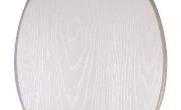 Croydex Moulded Wood Toilet Seat - White Oak Effect