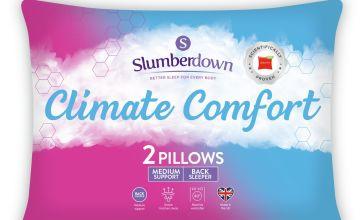 Slumberdown Climate Comfort Control Medium Pillow - 2 Pack