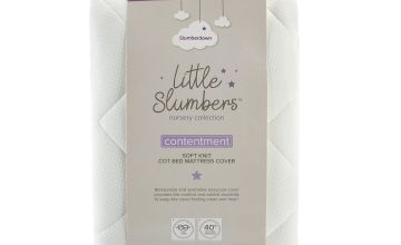 Slumberdown Contentment Soft Knitted Cot Bed Mattress Cover