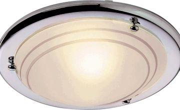 Argos Home Chrome Flush Ceiling Fitting