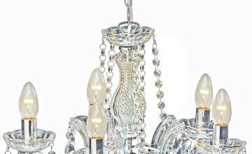 Argos Home Inspire 5 Light Chandelier - Clear