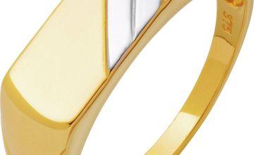 Revere 9ct Gold Multi Coloured Signet Ring