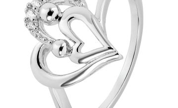Moon & Back Sterling Silver Mother and Daughter Ring