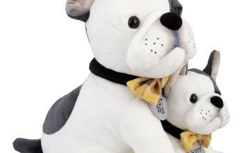 Bulldog & Pup Soft Toy