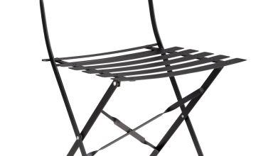 Argos Home Eve Metal Garden Chair - Black