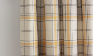 Argos Home Checked Lined Eyelet Curtains