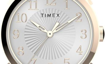 Timex Ladies Pink Leather Strap Watch