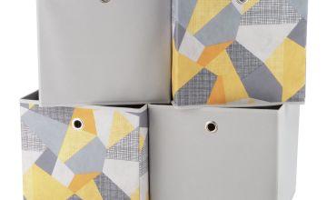 Argos Home Set of 4 Geometric Squares Plus Boxes