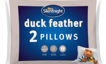 Silentnight Duck Feather Medium/ Soft Pillow - 2 Pack