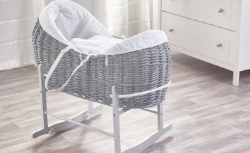 White Honeycomb Wicker Pod Basket and Rocker