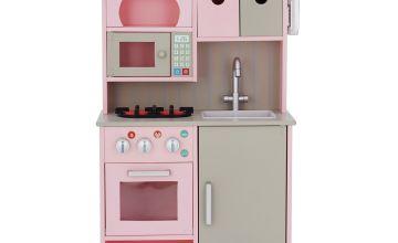Teamson Kids Wooden Play Kitchen – Pink