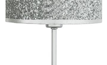 Argos Home Sparkling Table Lamp - Silver