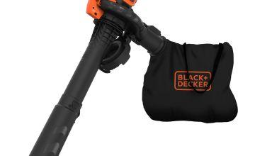 Black + Decker Corded Leaf Blower & Garden Vac - 2600W