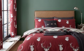 Catherine Lansfield Munro Stag Checked Bedding Set