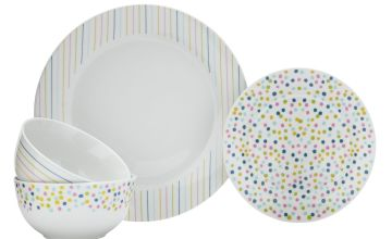 Argos Home Brights 12 Piece Dinner Set - Stripes