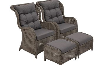 Argos Home Dave 2 Seater Lounger Set with Side Table