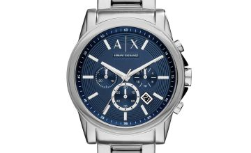 Armani Exchange Men's Silver Stainless Steel Bracelet Watch