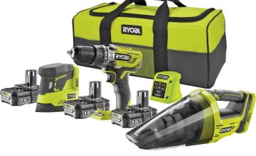 Ryobi Drill & Sander Starter Kit - 18V