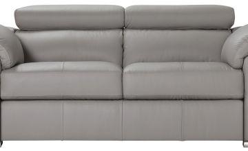 Argos Home Valencia 2 Seater Leather Sofa - Light Grey