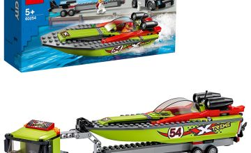 LEGO City Great Vehicles Race Boat Transporter Set - 60254