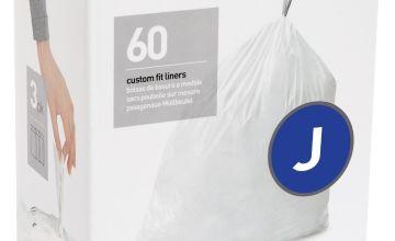 simplehuman Code J Bin Liners - Pack 60