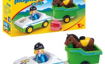 Playmobil 70181 1/2/3 Car with Horse Trailer Playset