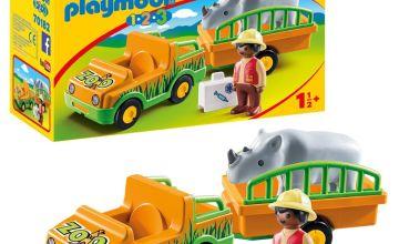 Playmobil 70182 Zoo Vehicle N Rhinoceros Playset