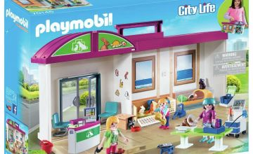 Playmobil 70146 City Life Take Along Vet Clinic Playset