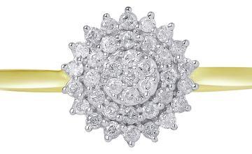 Revere 9ct Gold Diamond Cluster Ring