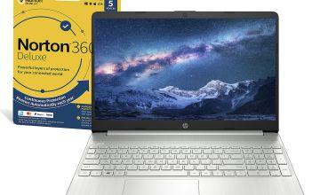 HP Slim 15.6in i5 8GB 256GB FHD Laptop & Norton Security