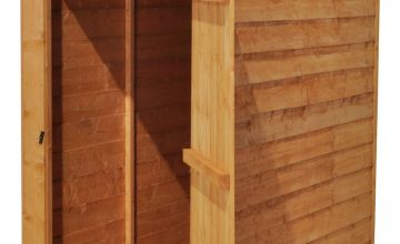 Forest Wooden 3 x 5ft Overlap Windowless Apex Shed