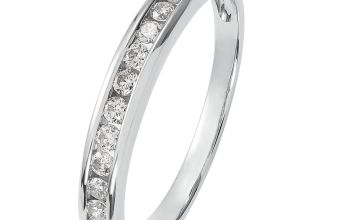 Revere 9ct White Gold Diamond Channel Set Eternity Ring