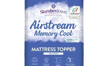 Slumberdown Airstream Memory Fibre Mattress Topper
